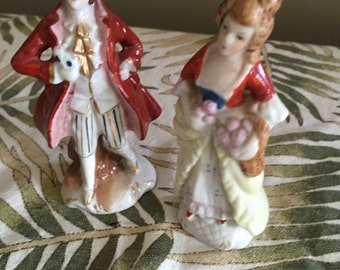 Vintage Victorian Man and Woman, Figurine Set, Japan, Mid Century, Retro, Figurines, Vintage, Deep Creek Shabby Decor
