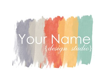 Premade Logo Design - Paint Swatch Logo - Painter Logo -  Blog Logo - Interior Designer Logo - Refurbished Furniture Logo - Boutique Logo