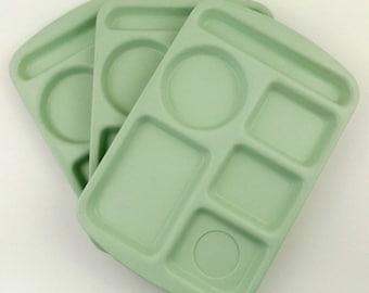 Vintage School Lunch Trays Prolon Ware Melamine Set of 3 in Light Green