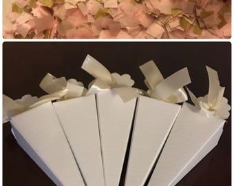 Confetti Cones / Wedding Confetti / Pink and Metallic Gold Confetti to Throw / Biodegradable Confetti