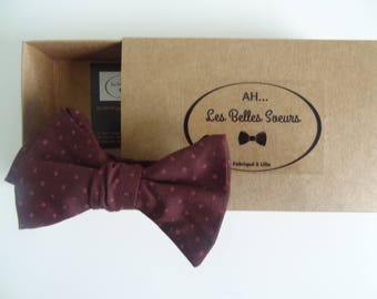 Bow tie knotted fabric Simon cotton