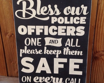 12x16 Bless our Police Officers