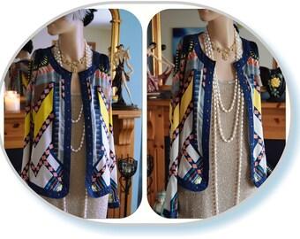 Aztec Silky Avant Garde jacket size UK 10 US 6