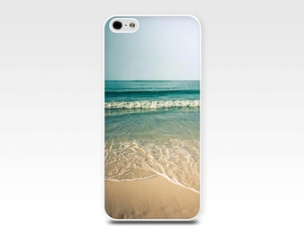 beach iphone 6 case beach scene iphone 6s case iphone 5s case coastal iphone 5 case iphone case nautical photography teal green