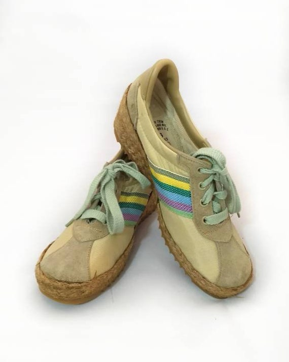 Wedge 70s By Weekenders Shoes 60s 6 Size Tennis Espadrille Vintage NOS Specs Sneakers x4zwxOSqf