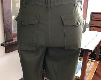 Vintage 1990's Boy Scout Uniform Shorts Pockets on front as well