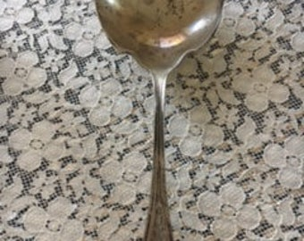 Antique Sterling Silver Serving Spoon