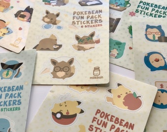 Pokebean Sticker Sheets