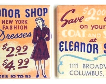 Eleanor Dress Shop Fridge Magnet Set