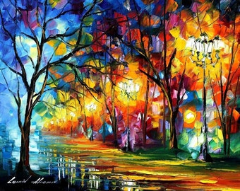 Famous Artists Paintings Colorful Landscape Art On Canvas By Leonid Afremov