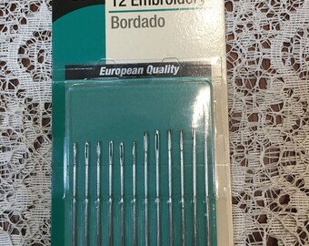 Hand Needles for Embroidery Size 1/5  12 needles
