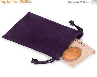TAX SEASON Stock up 50 Pack Grape Vineyard Purple Velvet Drawstring Bags great for Weddings, Party favors, Jewelry, Etc