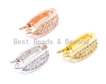 CZ Micro Pave Pendant Enhancer Bail, Gold, Silver Rhodium Plated, Fine Jewelry Bail,Pave Clasp, Pave Pendant Lock, Pendant Bail, sku#J9