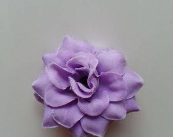 fleur  en tissu mauve 50mm