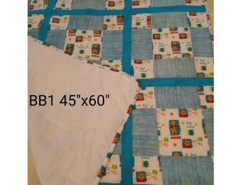 BABY QUILTS!  Made of various fabrics and of different sizes.