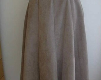 Escada Blush Beige Ultra Suede Skirt Size M-L
