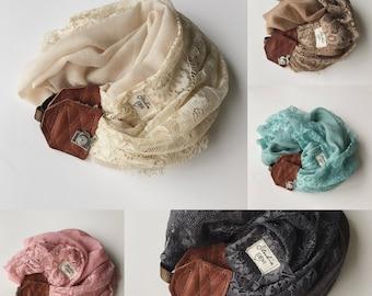 Studio Love Camera Strap: sand lace scarf pro photographer dslr leather