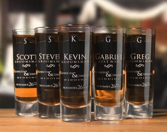 Groomsmen Gifts // Groomsman Gift // Personalized Gifts // Shot Glasses // Personalized