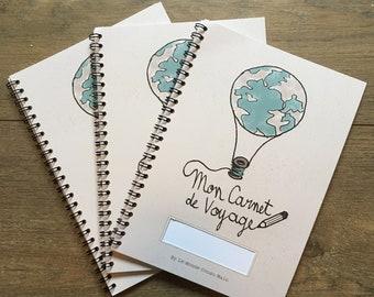 Kids travel journal, travel kids book, notebook, sketchbook, memory book travel diary