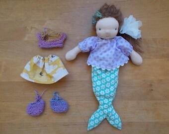 """Mermaid Doll * 8"""" * OOAK * waldorf inspired doll"""