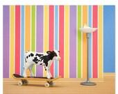 30% OFF SALE Skateboarding cow animal art print: Goofy Hoof
