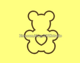 Teddy Bear Embroidery Design- 6 Sizes - INSTANT DOWNLOAD