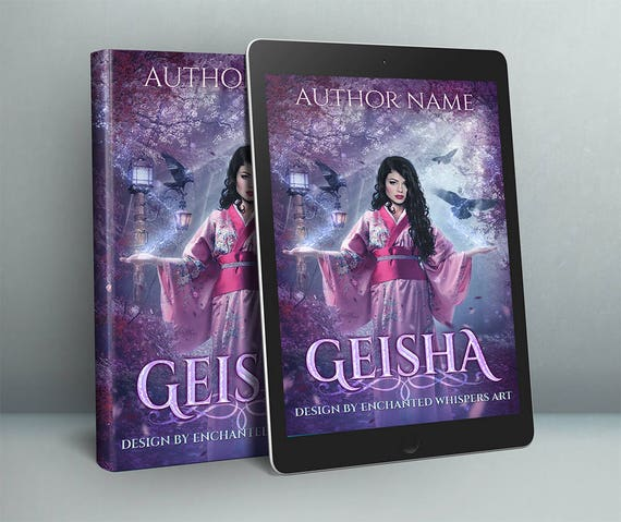 Japanese magical Geisha fantasy premade cover art design