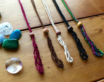 Crystal Pouch,Macrame Jewellery, Macrame Necklace,Woven Pouch,Handcrafted, Woven,Boho,Gypsy,Hippie,Wiccan,Spiritual,Healing,Gift Idea