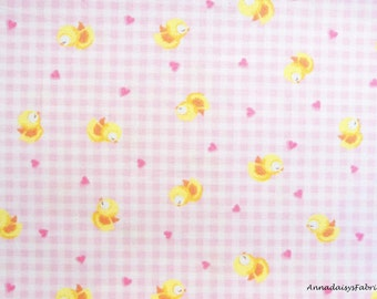 Pink Baby Fabric, Red Rooster Sweet Dreams 24474, Pink Gingham Check, Baby Chick Quilt Fabric, Pink Baby Girl Quilt Fabric, Cotton