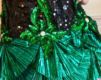 Sz 6 Show-stopping Sequin Lamé 80s Mermaid Dress by Alyce Designs