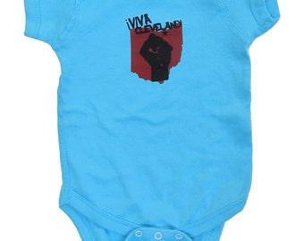 Viva Cleveland - Aqua Blue Baby One-Piece