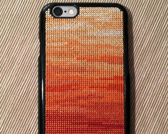 Free Shipping! Unique Cross Stitch Phone Case for iPhone 6 & iPhone 6S in Canyon Rock