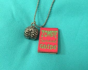 Zombie survival guide necklace
