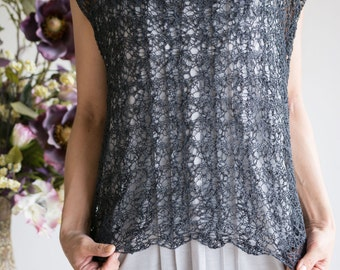 "Knitting Pattern: ""Smoke"" Sleevless top by DanDoh, Yumiko Alexander"