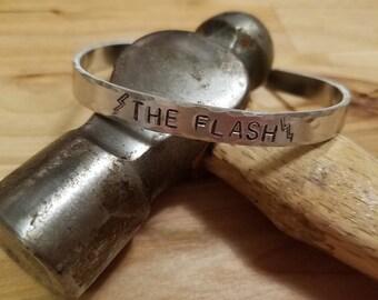 The Flash hand stamped cuff bracelet