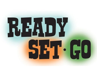 Ready Set Go - Imaginisce - Rubber Acrylic Stamp