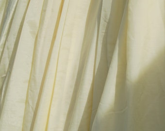 Beautiful Vintage Pair Pale Lemon Yellow Sheer Curtains Living Dining  Bedroom L 185cm / 73 Inch