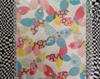 Rainbow Butterflys~Vintage~Gift Wrap~Quilt~Rainbow~Butterfly~Party~Wrapping Paper~90's~American Greetings