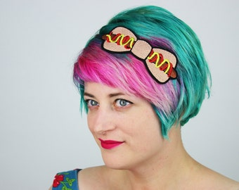 Hot Dog Bow Headband, Fast Food