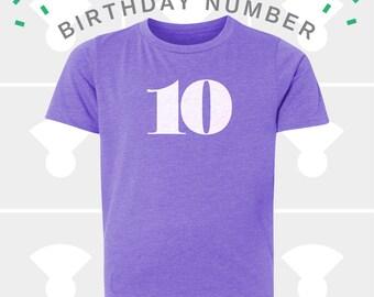 10th Birthday Shirt - Boys & Girls Unisex