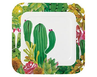Cactus Party Dinner plates   / cactus theme/ cactus party / fiesta party/ fiesta