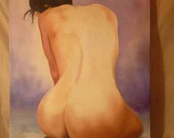 Female nude painting was oil on canvas