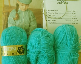 Knitting Kit, Book Yarn and Needles to get you going from my Collection