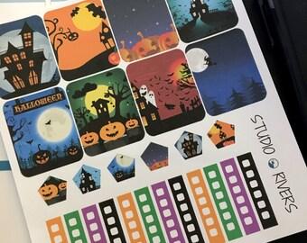 Halloween Theme Planner Stickers/Planner Stickers