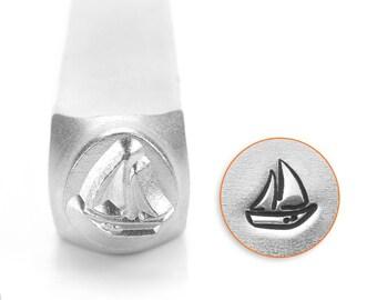 SAILBOAT- Metal Design Stamp ImpressArt- 6mm Design Stamp-Steel Stamps-Metal Supply Chick-New