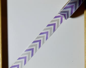 "Masking tape - pattern ""Purple CHEVRON"" - 1.5 cm x 10 m"