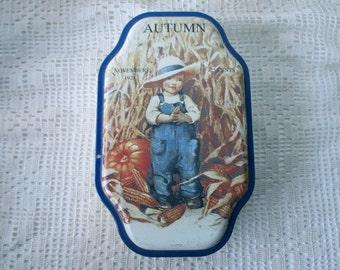 Vintage DECORATIVE TIN- Good Housekeeping,  Autumn, Fall