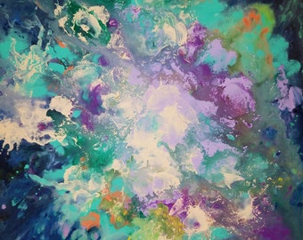 Ive Been Wearing The Ocean As A Reminder - Original Abstract on Canvas