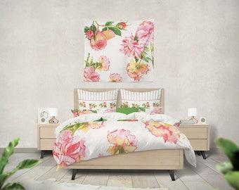 shabby chic bedding, teen bedding, shabby chic duvet girls duvet cover little girl bedding rose duvet cover queen duvet kids bedding bedroom