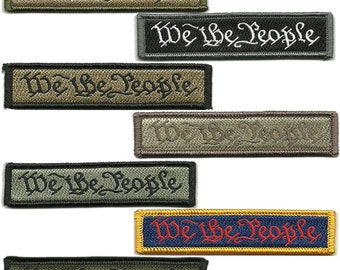"""BuckUp Tactical Morale Patch Hook We The People Morale Patches 3.75x1"""" Sized"""
